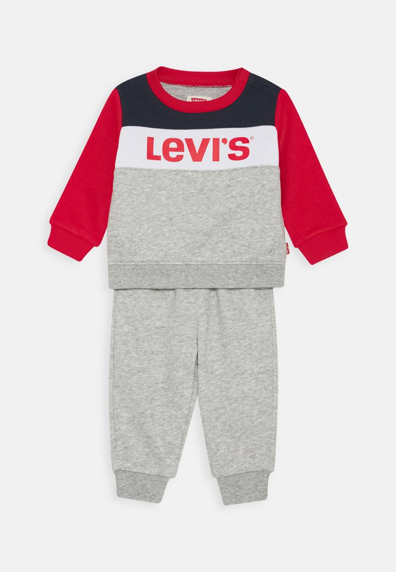 Levi's® - COLORBLOCK CREW JOGGER SET - Survêtement - grey heather