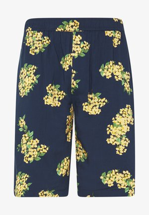 PULL ON FLORAL PRINT - Shorts - navy