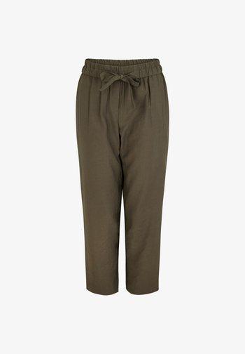 MIT ELASTIKBUND - Trousers - khaki