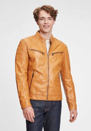 DERRY - Leather jacket - yellow