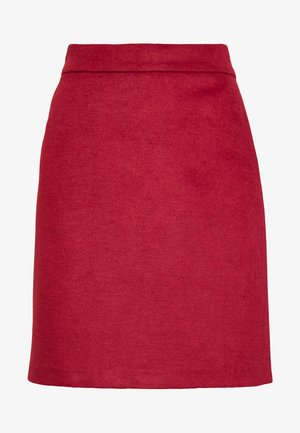 SKIRT - A-line skirt - dark red