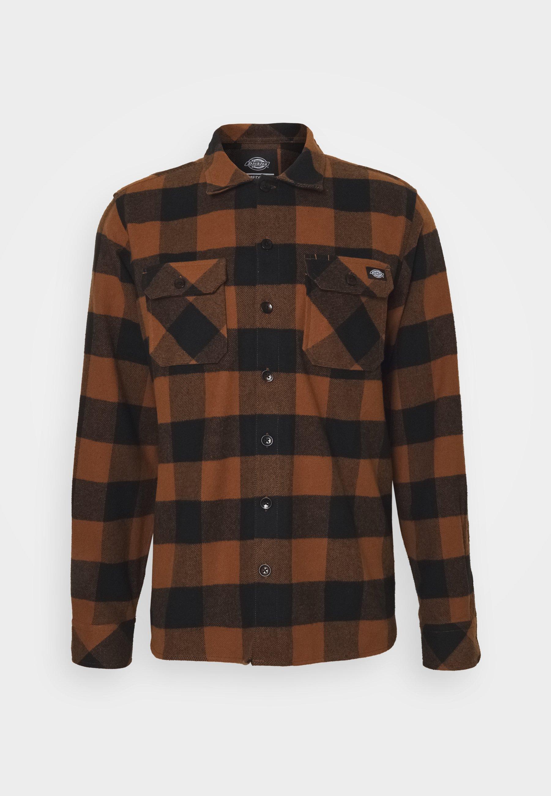 camicia uomo multicolore Dickies sacramento shirt brown duck