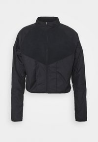 Nike Performance - RUN MID - Fleece jacket - black/gold