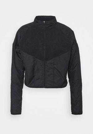 RUN MID - Fleece jacket - black/gold