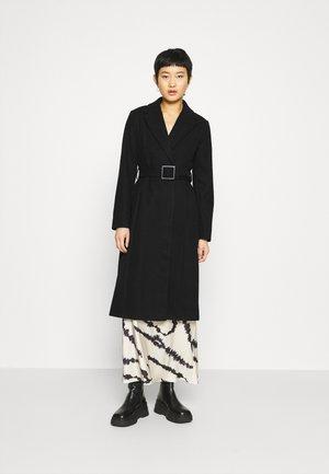 BELT WRAP - Klasický kabát - black