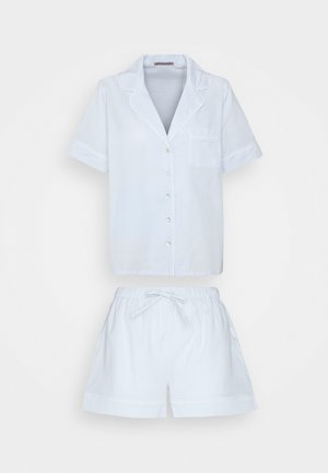 Pyjama set - blue/white
