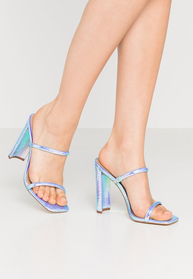 AGAFIYAY - Mules à talons - bright multicolor
