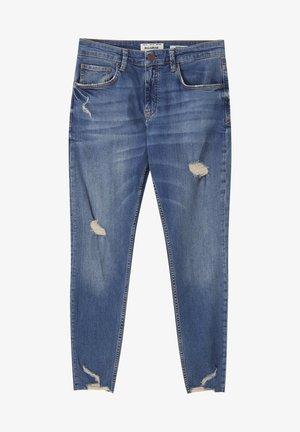 Skinny džíny - mottled dark blue