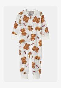 Lindex - GINGERBREAD UNISEX - Pyjamas - light dusty white - 0