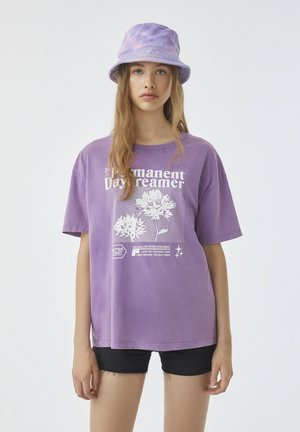 Print T-shirt - mottled purple