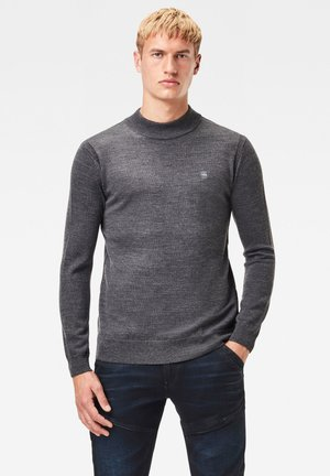 PREMIUM CORE MOCK TURTLE LONG SLEEVE - Jumper - dk grey htr