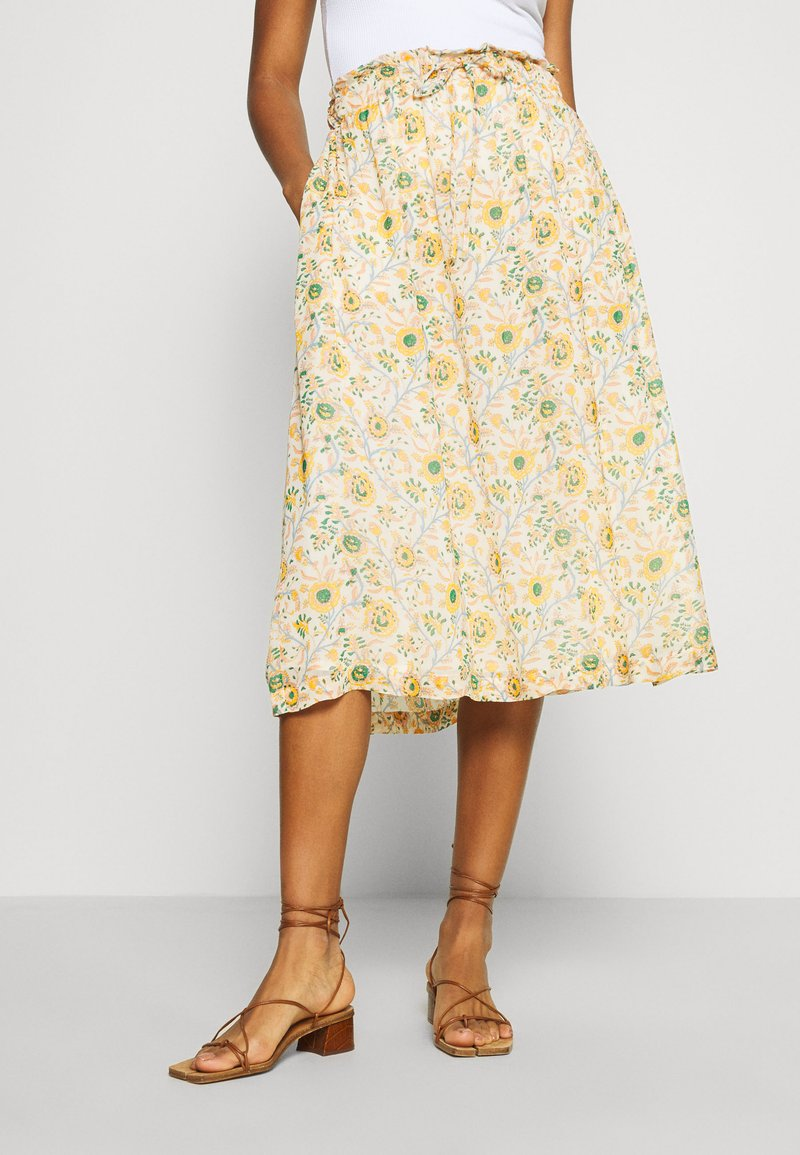 Leon & Harper - JACARA BOUQUET - A-line skirt - off white