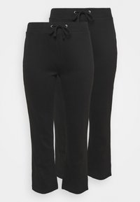 CAPSULE by Simply Be - OPEN HEM JOGGERS 2 PACK - Tracksuit bottoms - black - 0