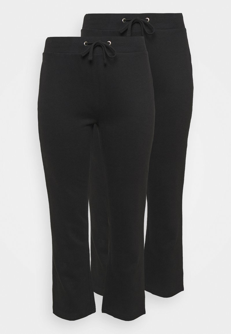 CAPSULE by Simply Be - OPEN HEM JOGGERS 2 PACK - Tracksuit bottoms - black