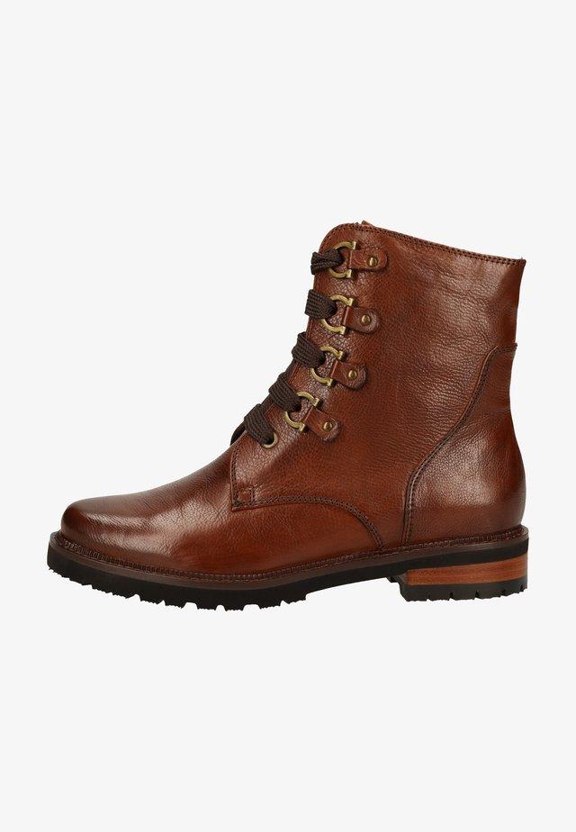 Platform ankle boots - ginger gianduia