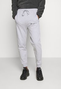 Mennace - REGULAR SIGNATURE  - Tracksuit bottoms - grey - 0