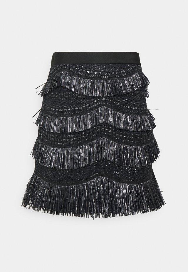 SKIRT - Minigonna - black