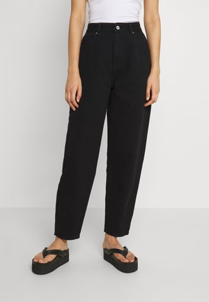 SLOUCH MOM - Jeansy Relaxed Fit - black