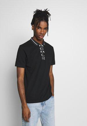 PLACKET POLO - Polo shirt - black