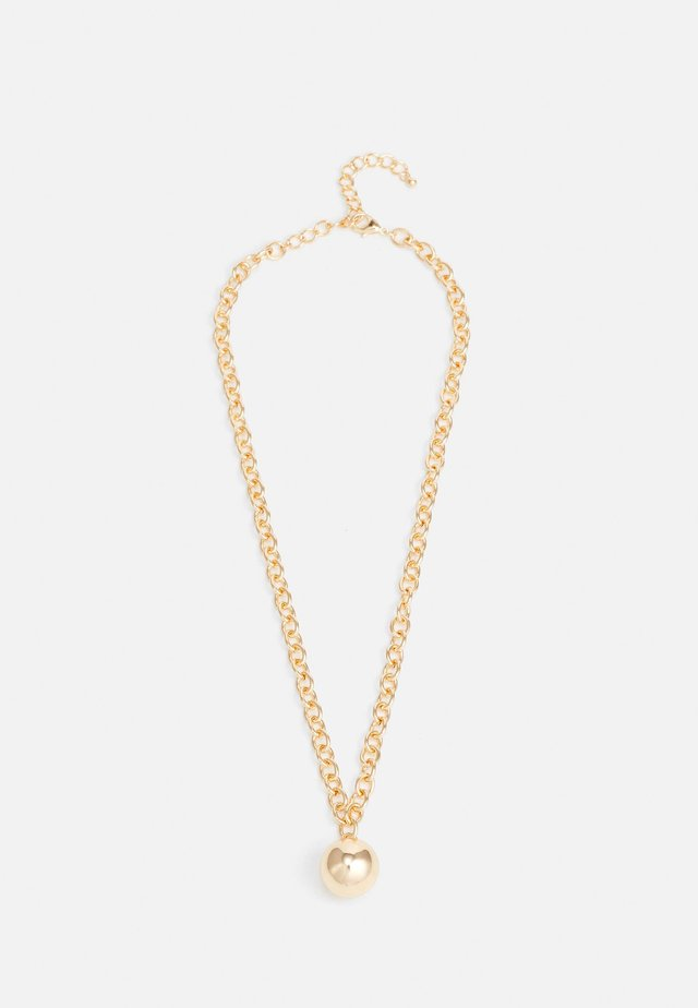 BALL CHAIN NECKLACE - Naszyjnik - gold-coloured