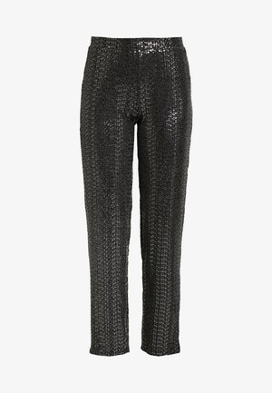 Leggings - Trousers - black/silver