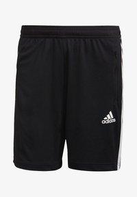 adidas Performance - PRIMEBLUE DESIGNED TO MOVE SPORT 3-STRIPES SHORTS - Sports shorts - black - 5