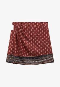 PULL&BEAR - Wrap skirt - mottled light red - 5