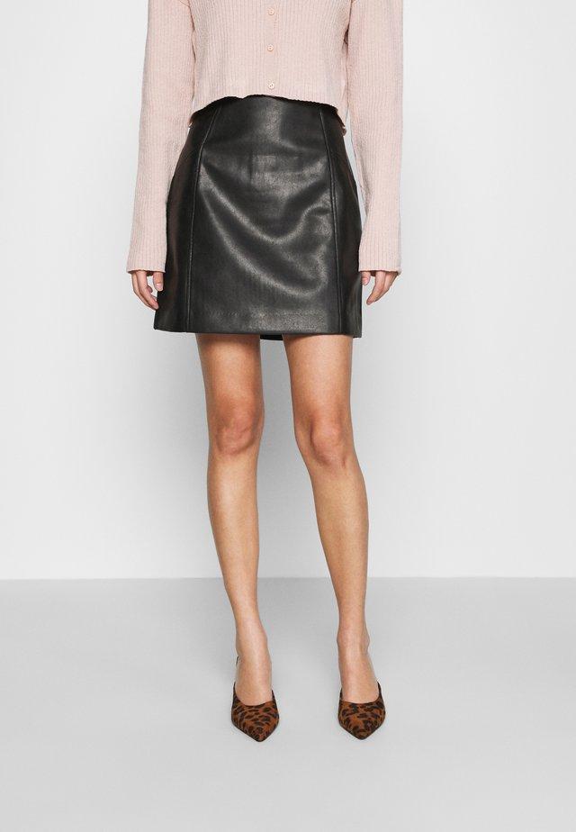 MINI - Áčková sukně - black