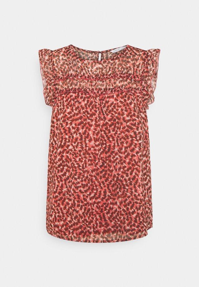 ONLMARGUERITE CAPSLEEVE  - T-shirt imprimé - faded rose/sunset
