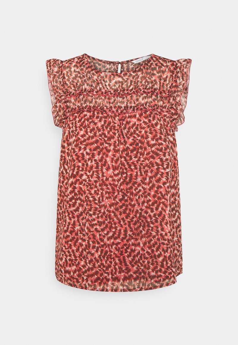 ONLY - ONLMARGUERITE CAPSLEEVE  - Print T-shirt - faded rose/sunset