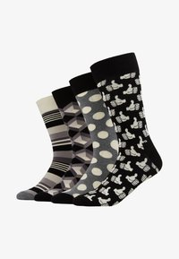 Happy Socks - GIFT BOX 4 PACK - Socks - black/white - 1