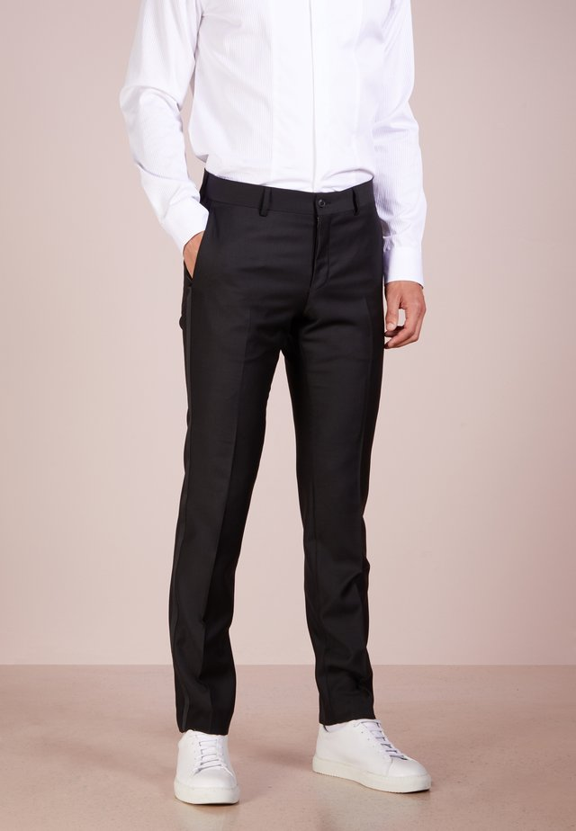 TERRISS TUXEDO PANTS - Pantalon de costume - black