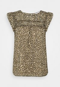 ONLMARGUERITE CAPSLEEVE  - Print T-shirt - pumice stone