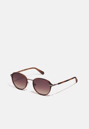 UNISEX - Sunglasses - matte havana/gold-coloured/green
