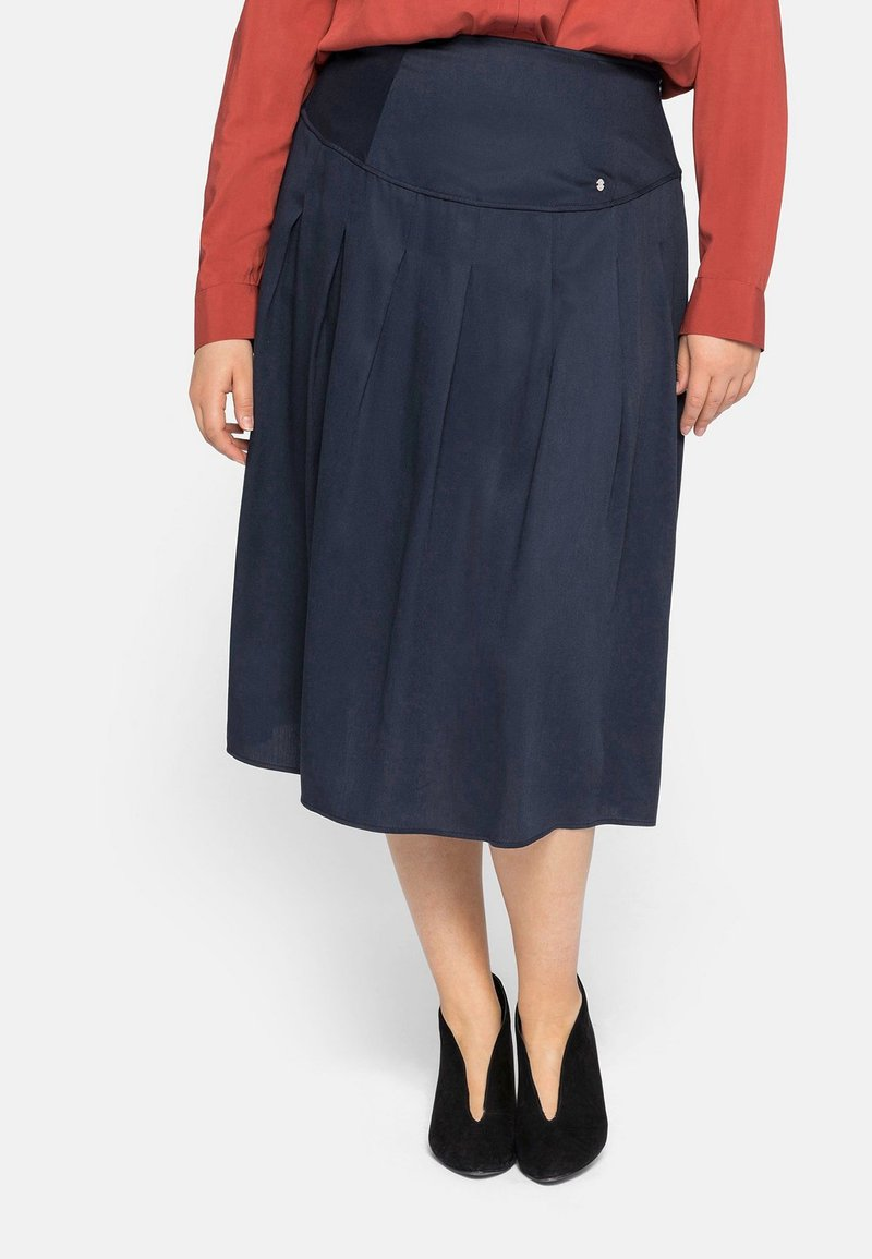 Sheego - Pleated skirt - nachtblau