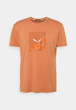 BOX DRY - T-shirt med print - autumnal melange