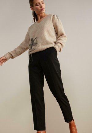 ZIGARETTEN - Trousers - schwarz