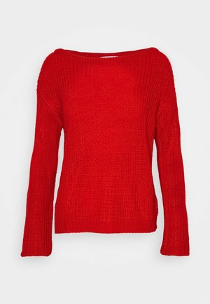 OPHELITA OFF SHOULDER JUMPER - Stickad tröja - red