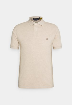 SLIM FIT MODEL - Polo shirt - beige/sand/white