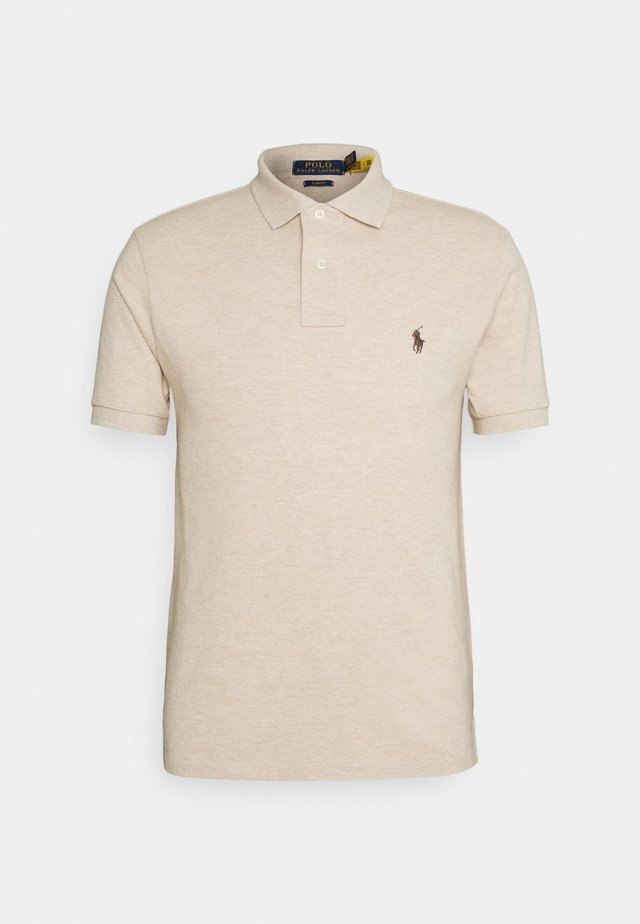 SLIM FIT MODEL - Polo shirt - beige/sand/white