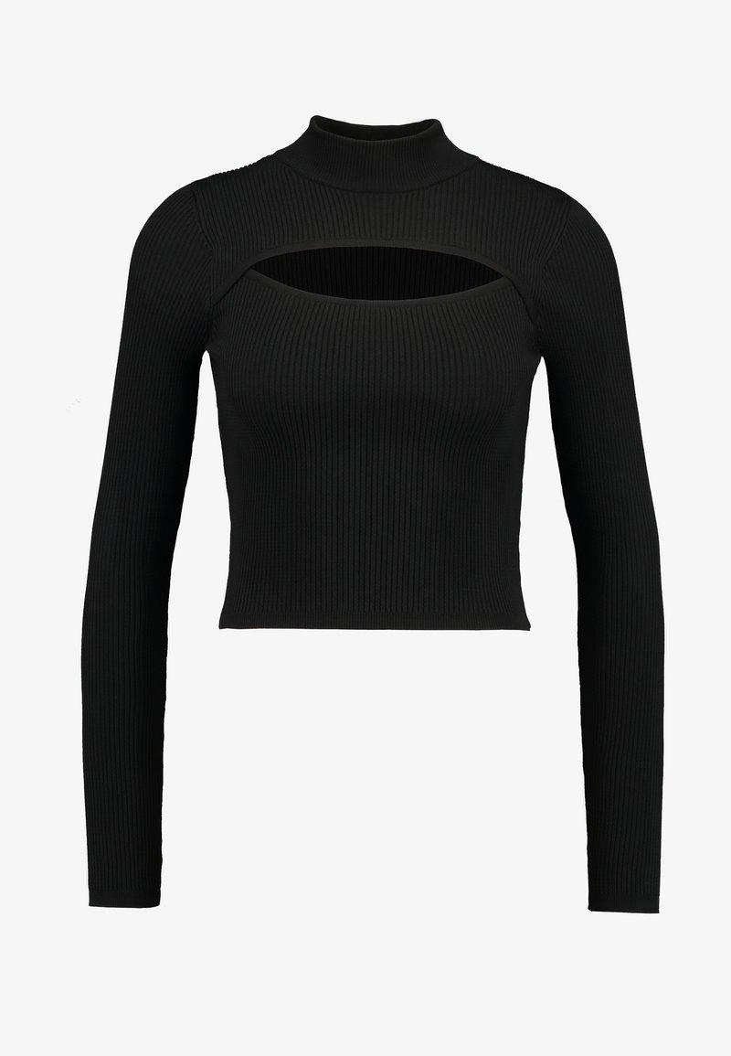 BDG Urban Outfitters CUTOUT FRONT - Strikkegenser - ecru