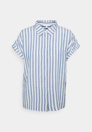 STRUCTURE STRIPE - Skjorte - mid blue/white