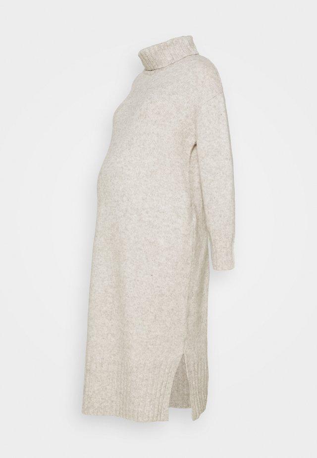 ROLL NECKMG DRESS - Gebreide jurk - oatmeal