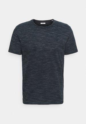 FINE STRIPED  - Print T-shirt - navy offwhite inject stripe