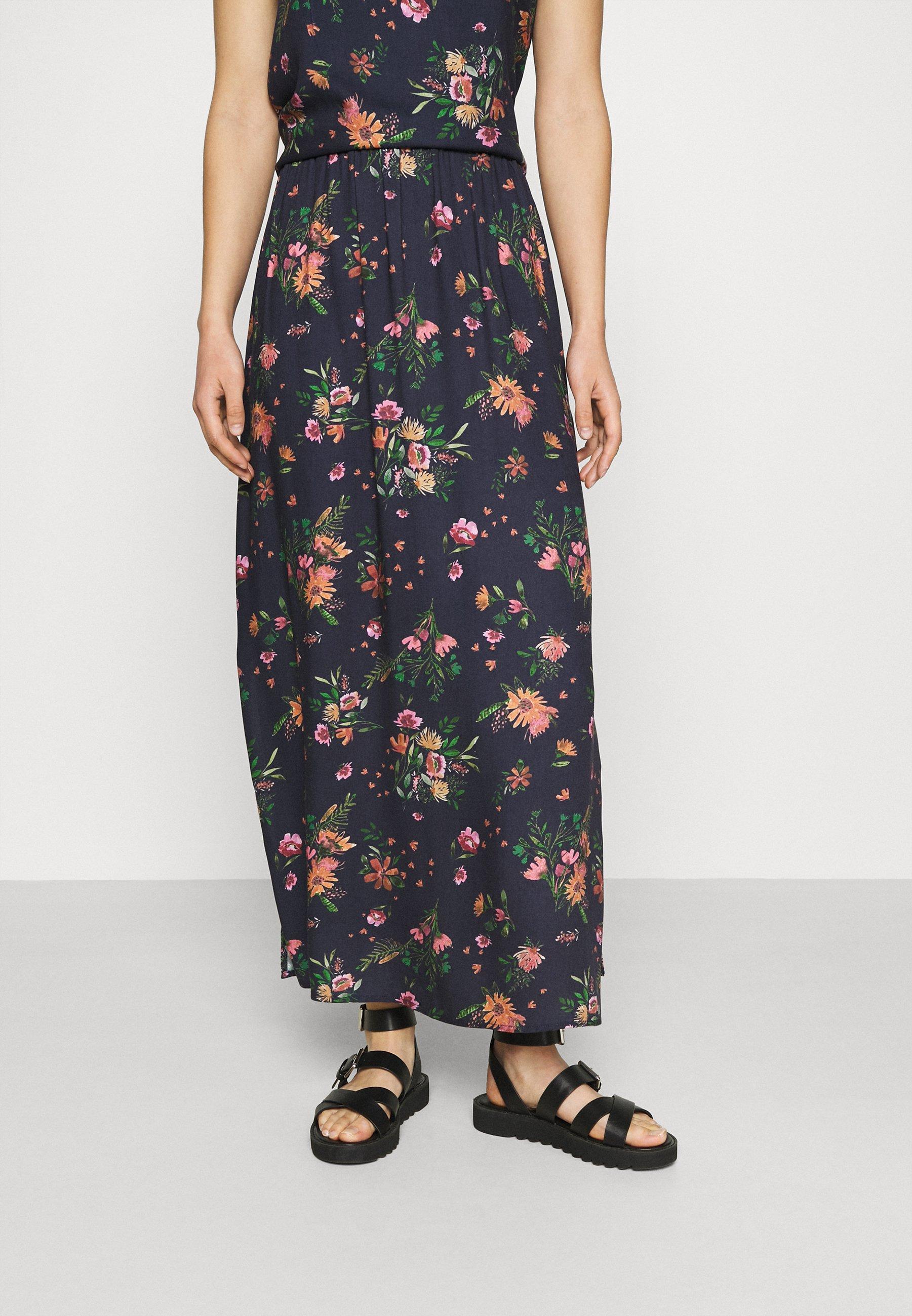 Women VIBILLY LONG FLOWER SKIRT - Maxi skirt