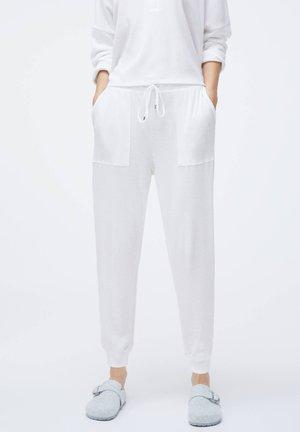 PLAIN WHITE COTTON - Nattøj bukser - white