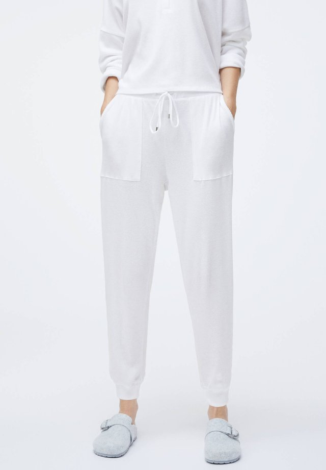 PLAIN WHITE COTTON - Pantaloni del pigiama - white