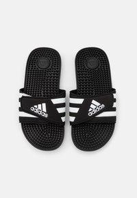 adidas Performance - ADISSAGE UNISEX - Pool slides - core black/footwear white - 3