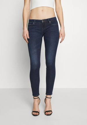 ONLCORAL SKINNY ANK - Jeansy Skinny Fit - dark blue denim