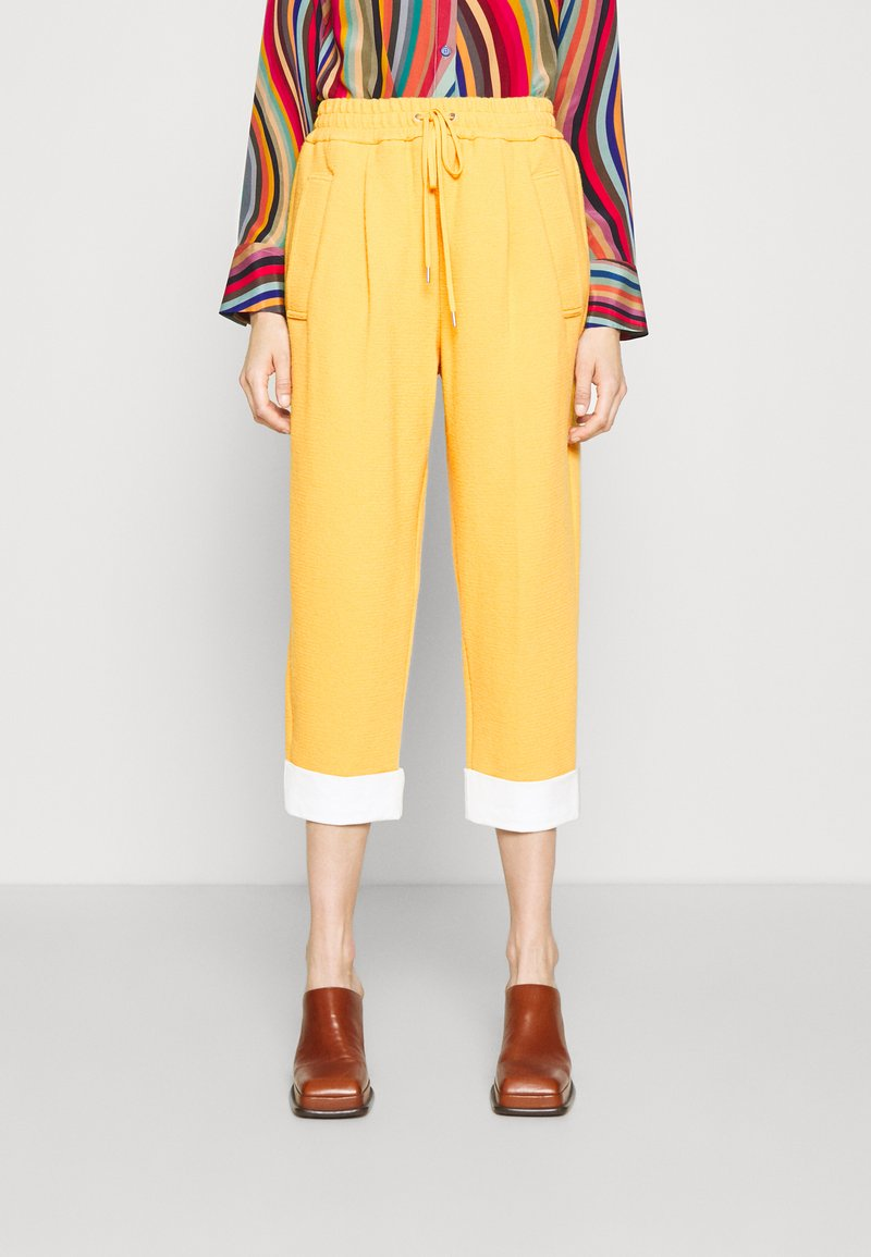 3.1 Phillip Lim - UTILITY TIE WAIST CROPPED TROUSER - Trousers - marigold